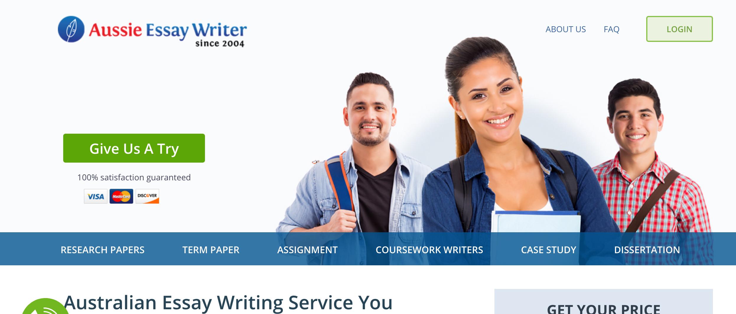 Australian essay writers